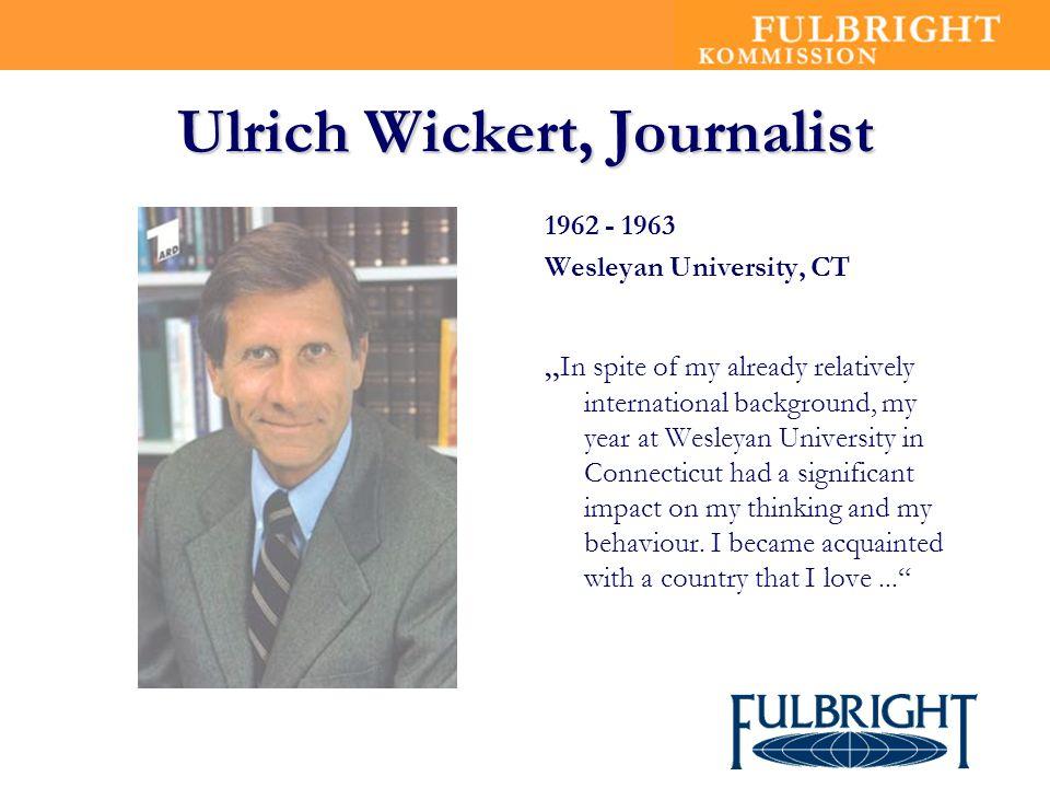 Ulrich Wickert, Journalist