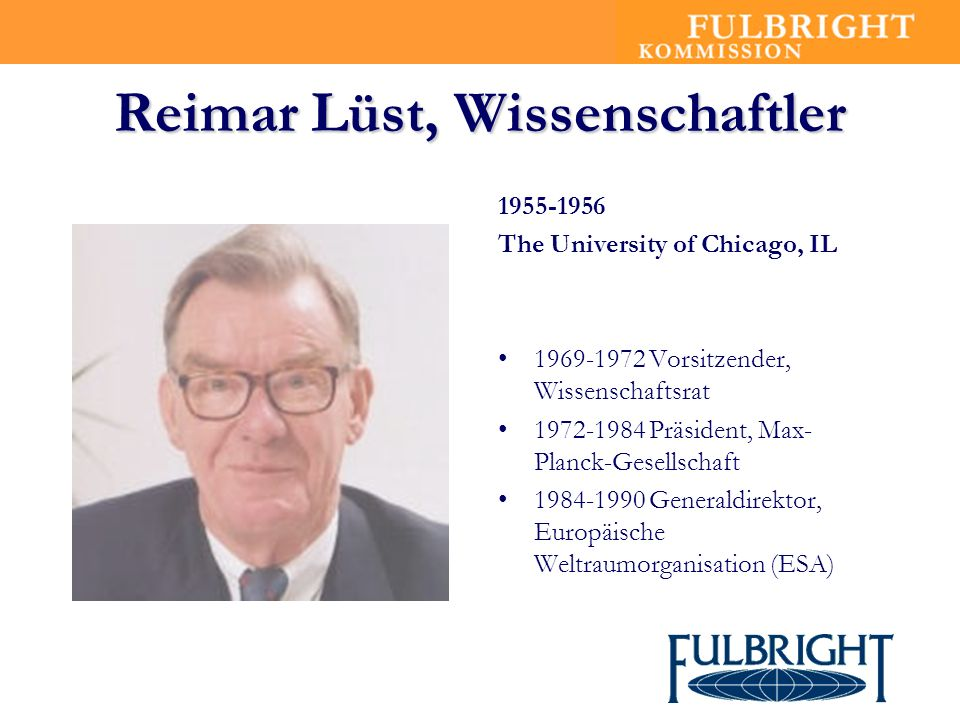 Reimar Lüst, Wissenschaftler