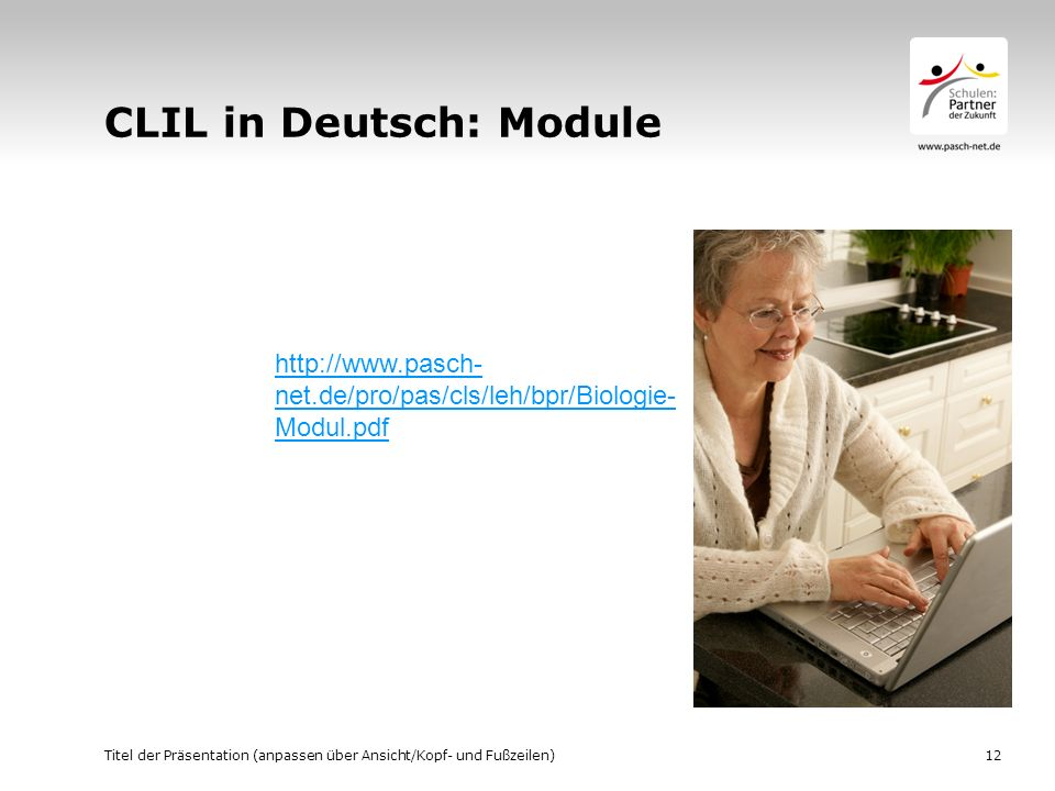 CLIL in Deutsch: Module