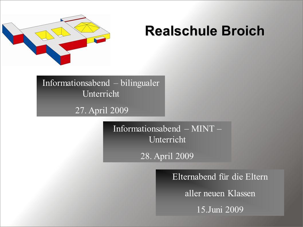 Realschule Broich Informationsabend – bilingualer Unterricht