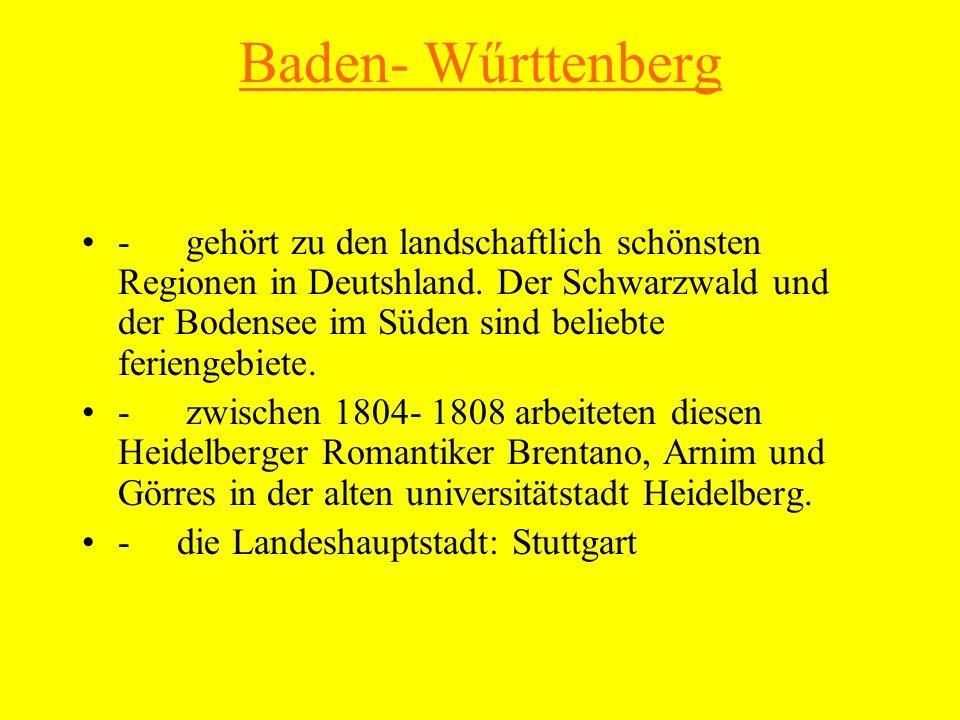 Baden- Wűrttenberg