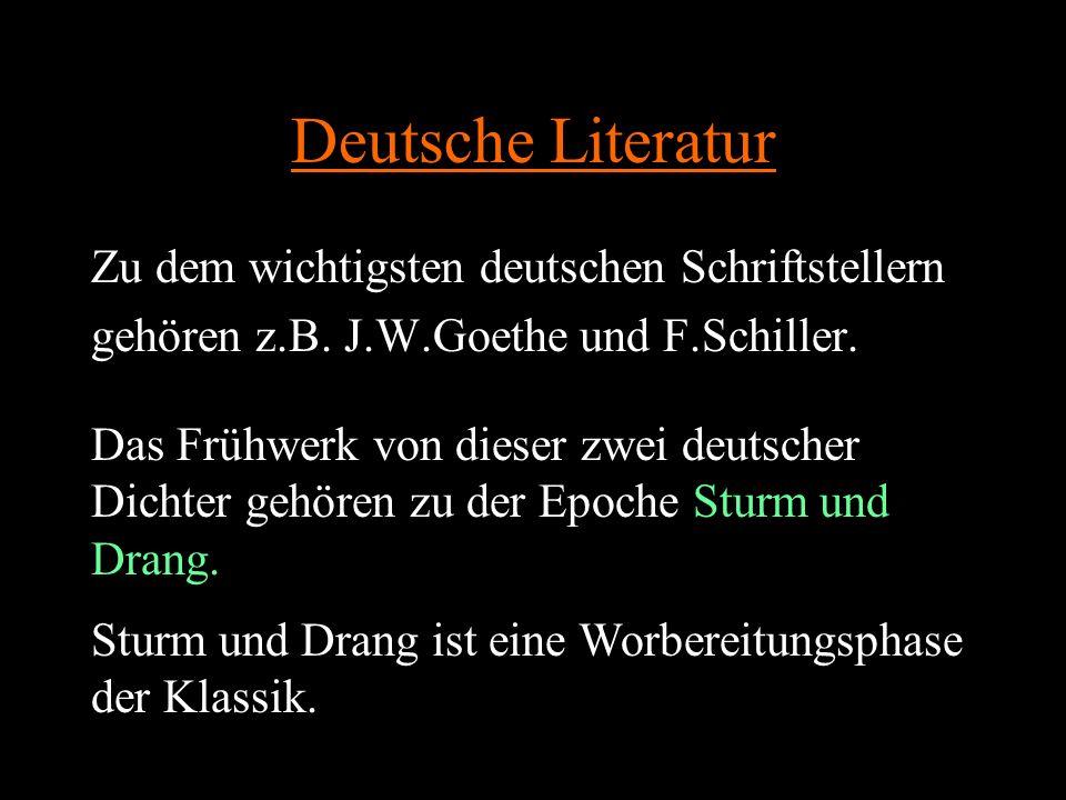 Deutsche Literatur Zu dem wichtigsten deutschen Schriftstellern