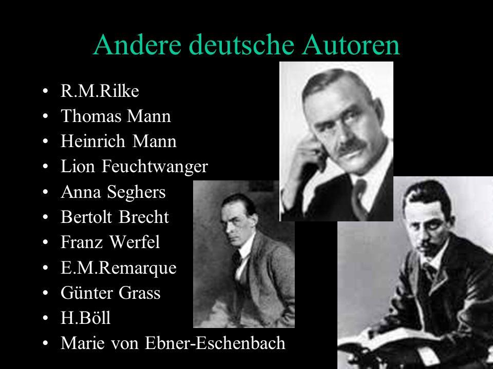 Andere deutsche Autoren