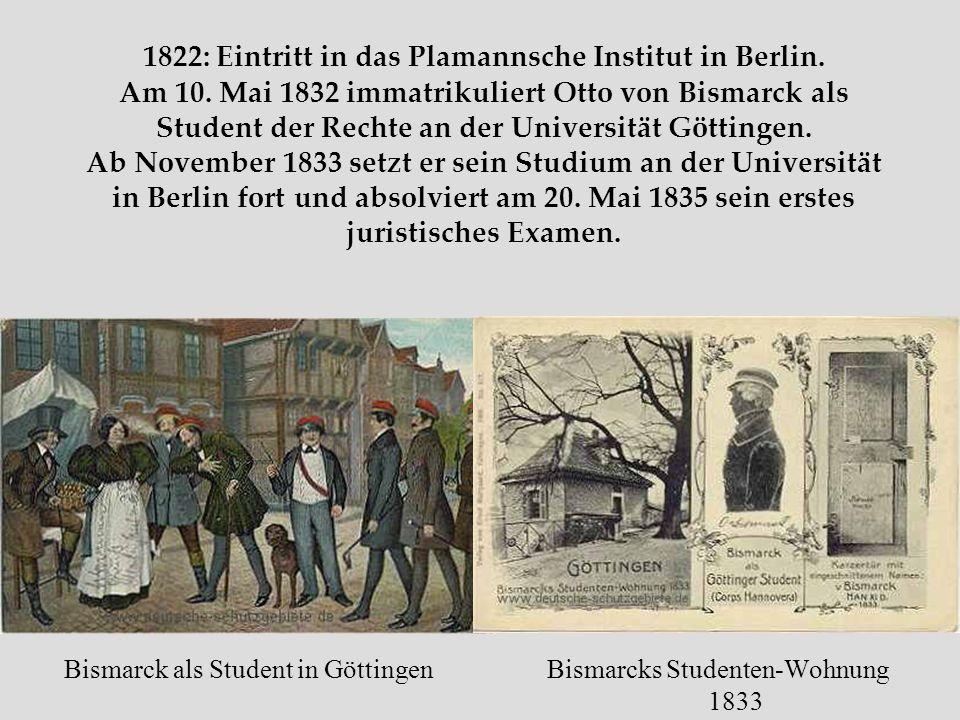 1822: Eintritt in das Plamannsche Institut in Berlin. Am 10