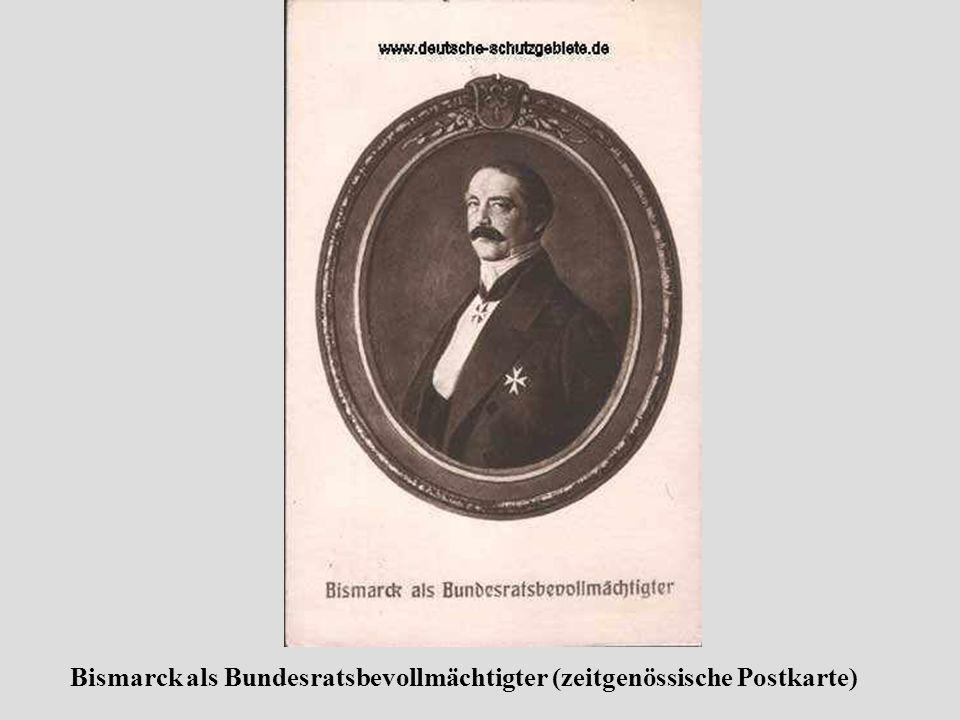 Bismarck als Bundesratsbevollmächtigter (zeitgenössische Postkarte)