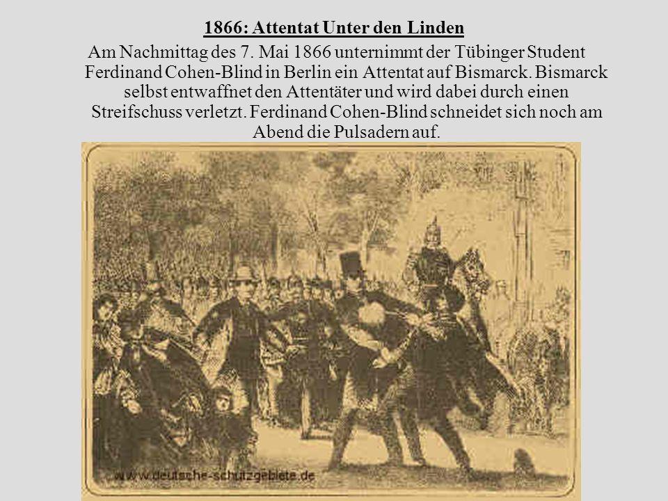 1866: Attentat Unter den Linden