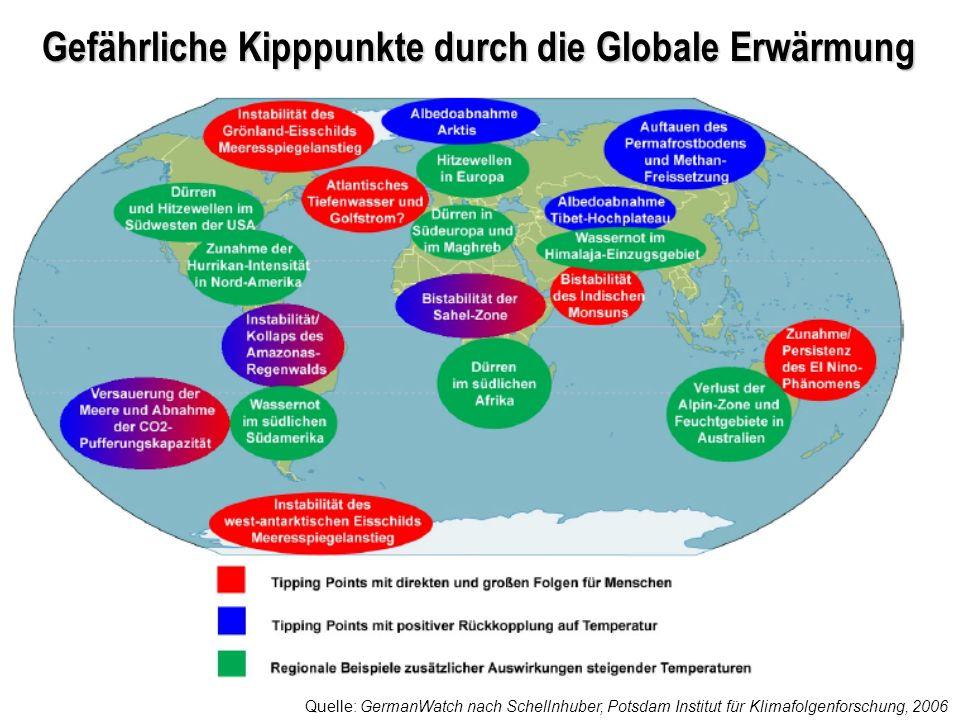 Gefährliche Kipppunkte durch die Globale Erwärmung