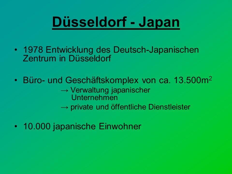 Düsseldorf - Japan 1978 Entwicklung des Deutsch-Japanischen Zentrum in Düsseldorf. Büro- und Geschäftskomplex von ca. 13.500m2.