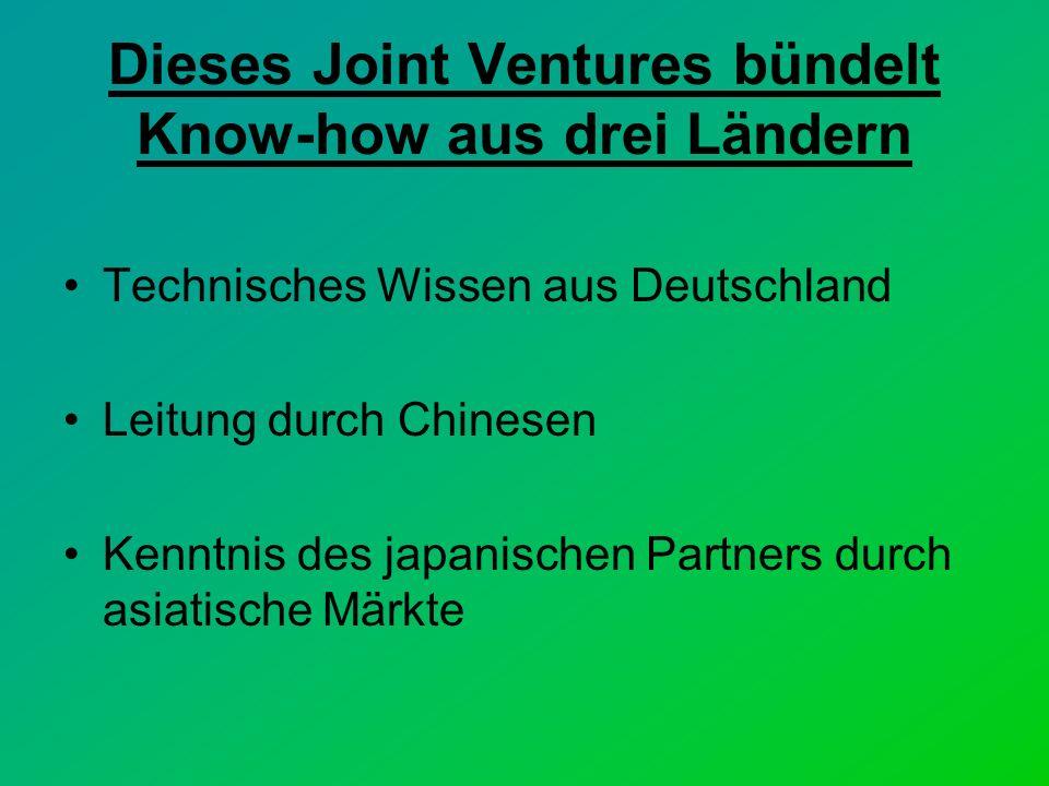 Dieses Joint Ventures bündelt Know-how aus drei Ländern