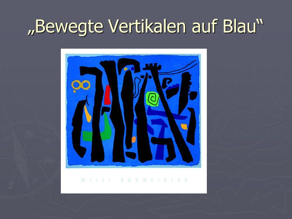 """""""Bewegte Vertikalen auf Blau"""
