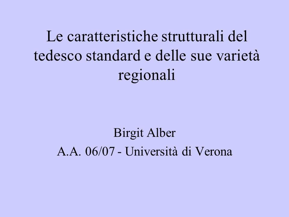 Birgit Alber A.A. 06/07 - Università di Verona