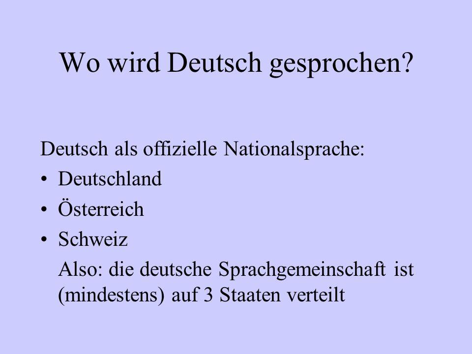 Wo wird Deutsch gesprochen