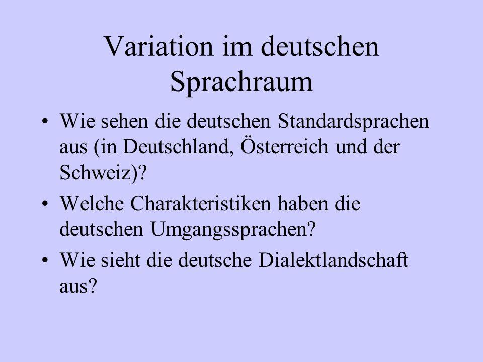 Variation im deutschen Sprachraum