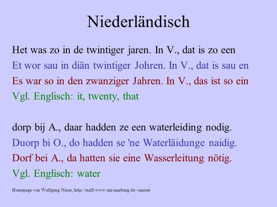 Niederländisch Het was zo in de twintiger jaren. In V., dat is zo een