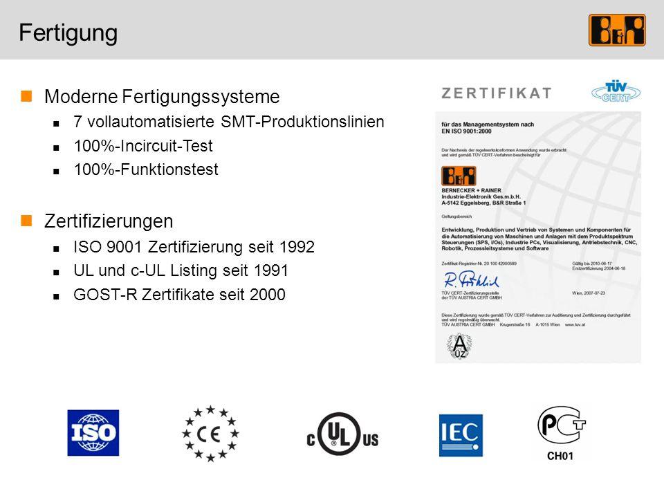 Fertigung Moderne Fertigungssysteme Zertifizierungen
