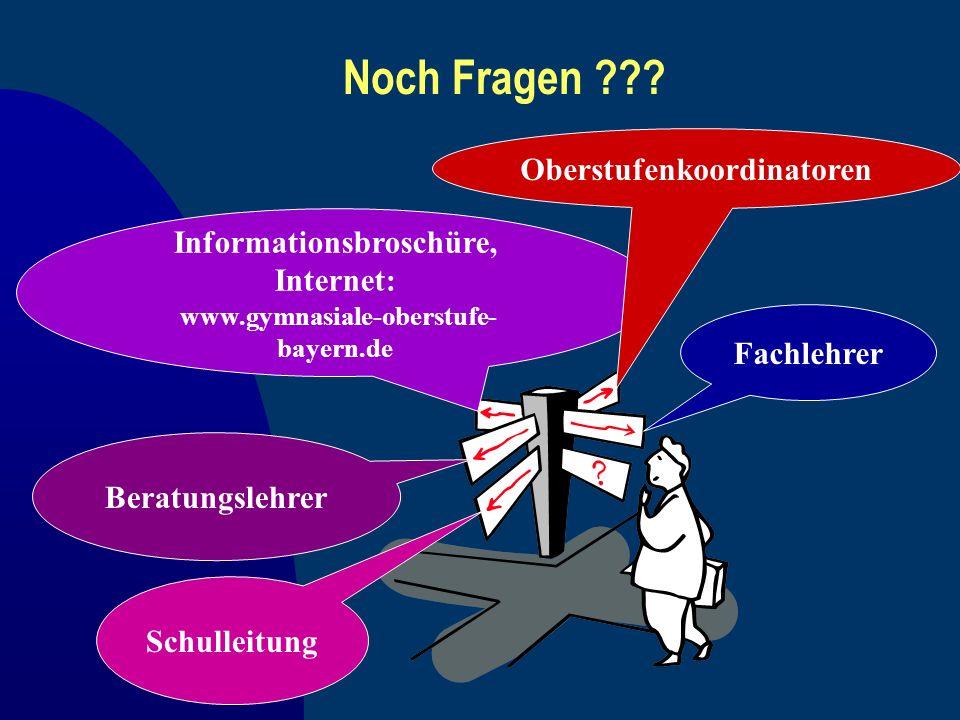 Noch Fragen Oberstufenkoordinatoren Informationsbroschüre,
