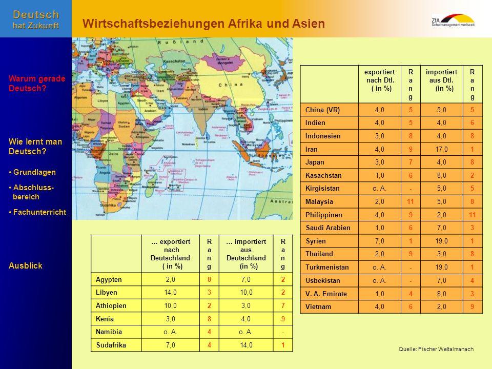 Wirtschaftsbeziehungen Afrika und Asien