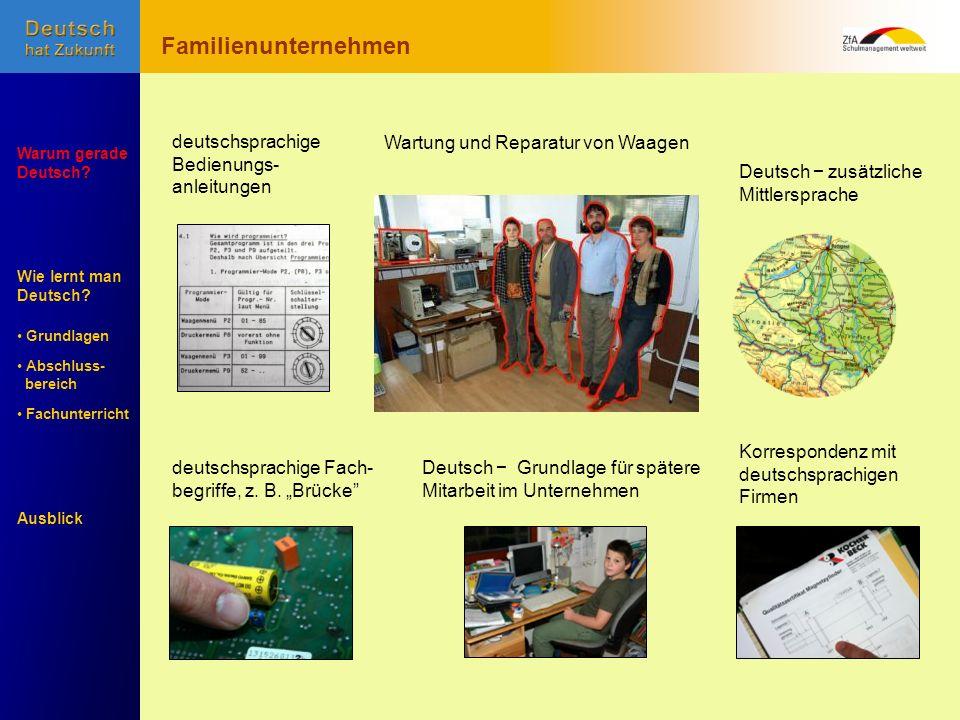 Familienunternehmen deutschsprachige Bedienungs-anleitungen
