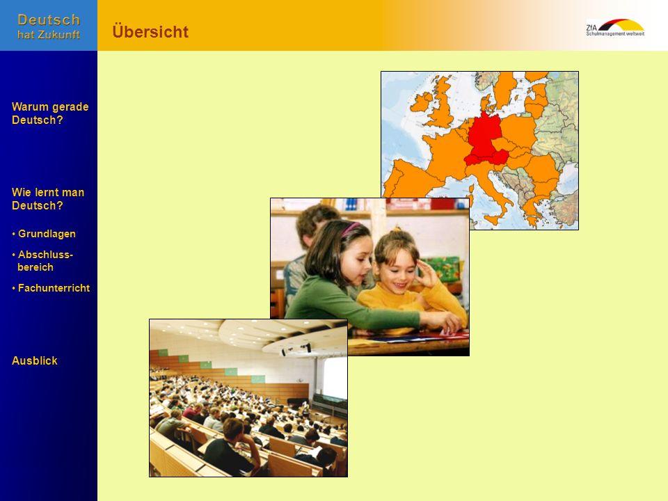 Übersicht Warum gerade Deutsch Wie lernt man Deutsch Ausblick