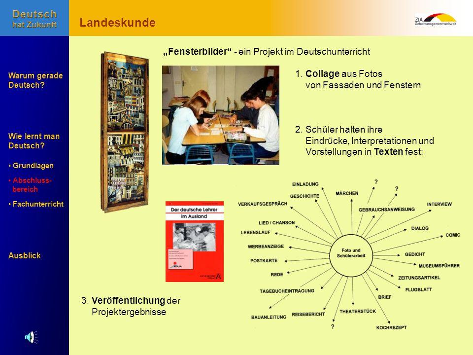 """Landeskunde """"Fensterbilder - ein Projekt im Deutschunterricht"""