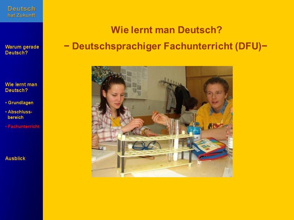 − Deutschsprachiger Fachunterricht (DFU)−