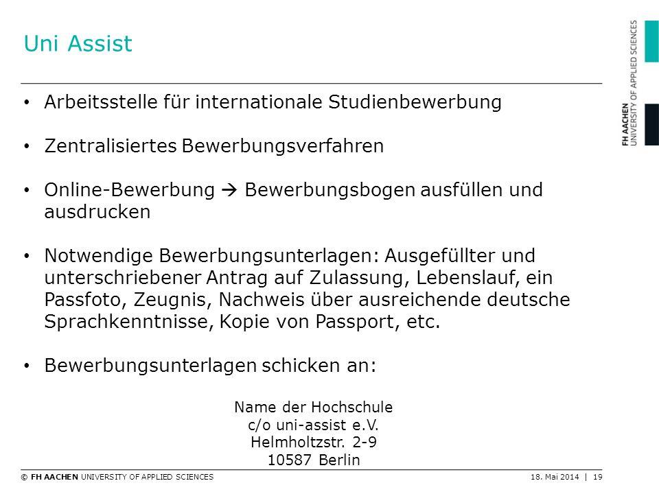 Uni Assist Arbeitsstelle für internationale Studienbewerbung