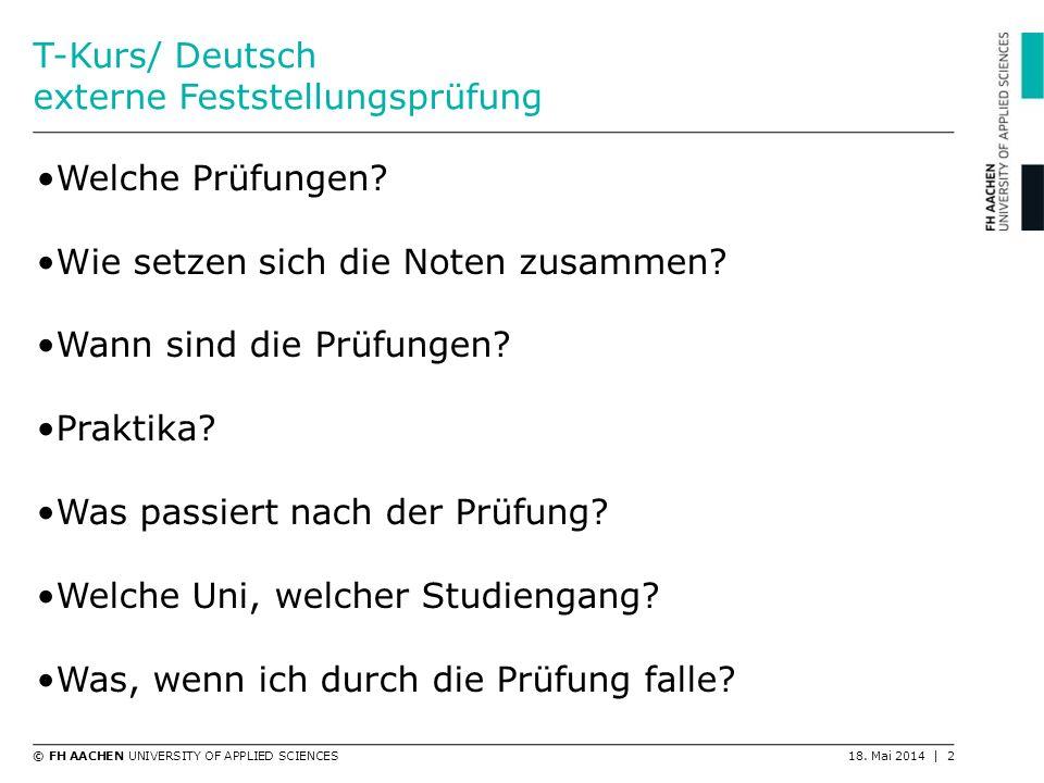 T-Kurs/ Deutsch externe Feststellungsprüfung