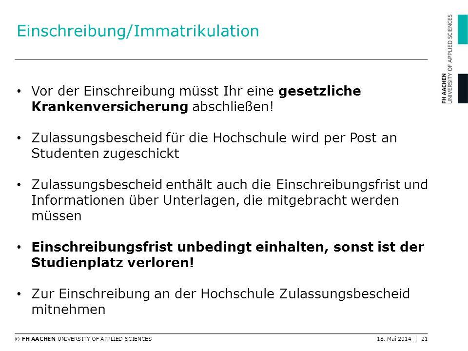 Einschreibung/Immatrikulation