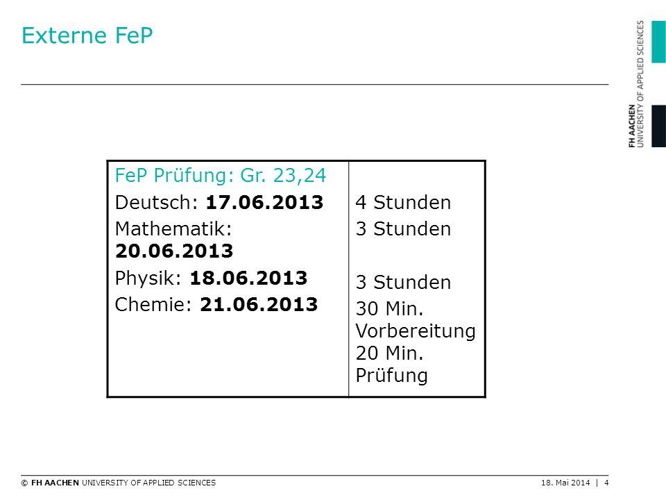 Externe FeP FeP Prüfung: Gr. 23,24 Deutsch: 17.06.2013