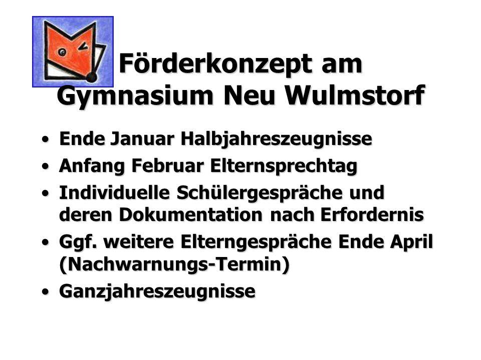 Förderkonzept am Gymnasium Neu Wulmstorf