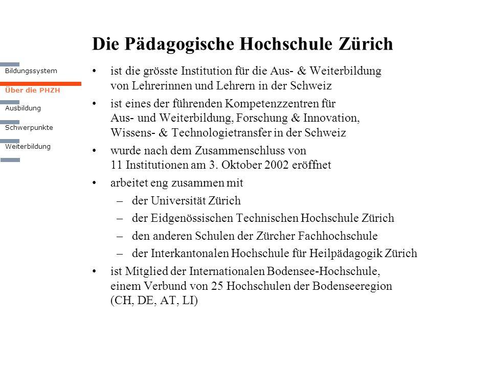 Die Pädagogische Hochschule Zürich