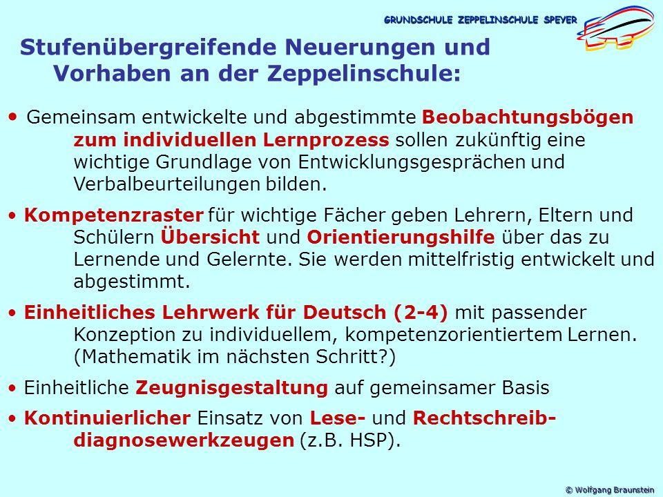 Stufenübergreifende Neuerungen und Vorhaben an der Zeppelinschule: