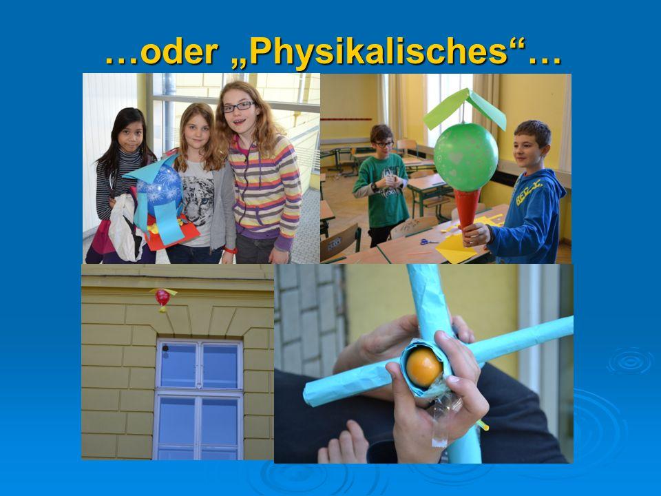 """…oder """"Physikalisches …"""