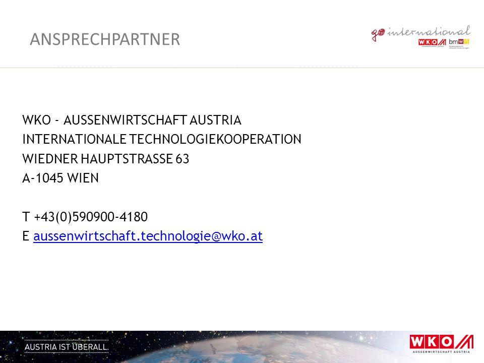 Ansprechpartner WKO - AuSSenwirtschaft Austria