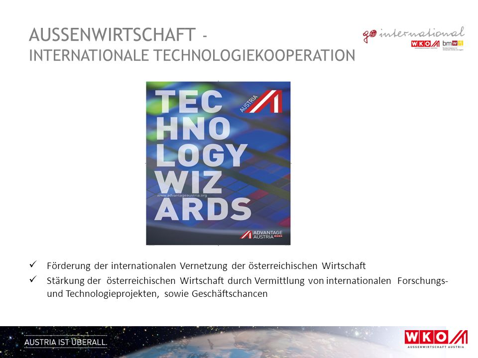 AUSSENWIRTSCHAFT - Internationale Technologiekooperation
