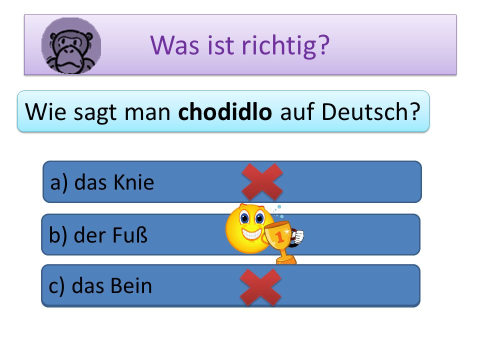 Wie sagt man chodidlo auf Deutsch