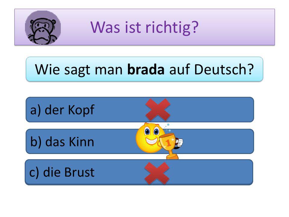 Wie sagt man brada auf Deutsch
