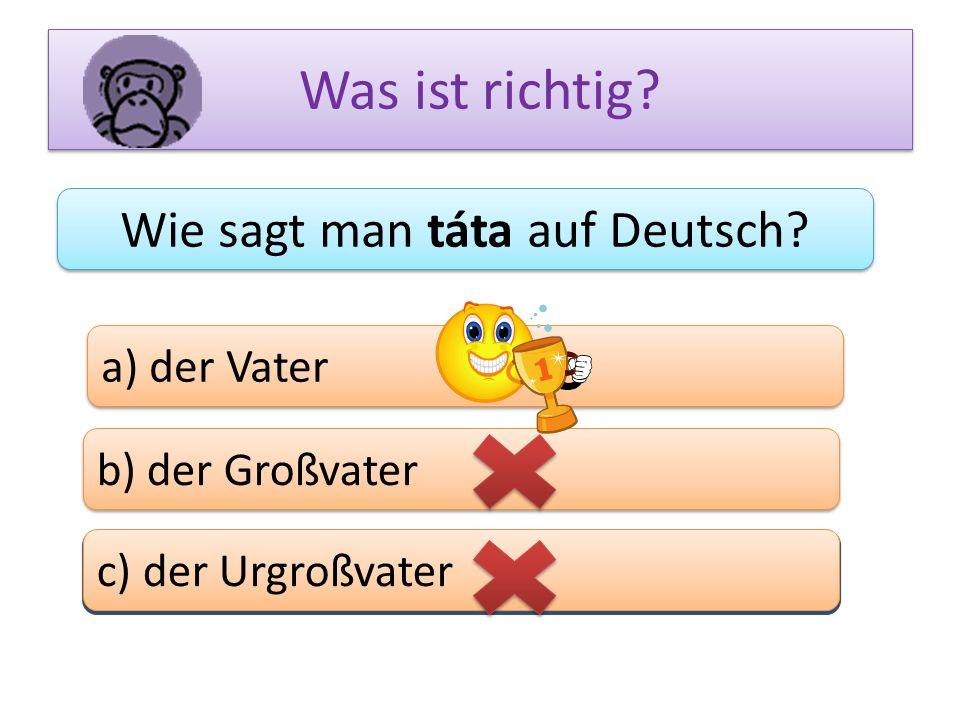 Wie sagt man táta auf Deutsch