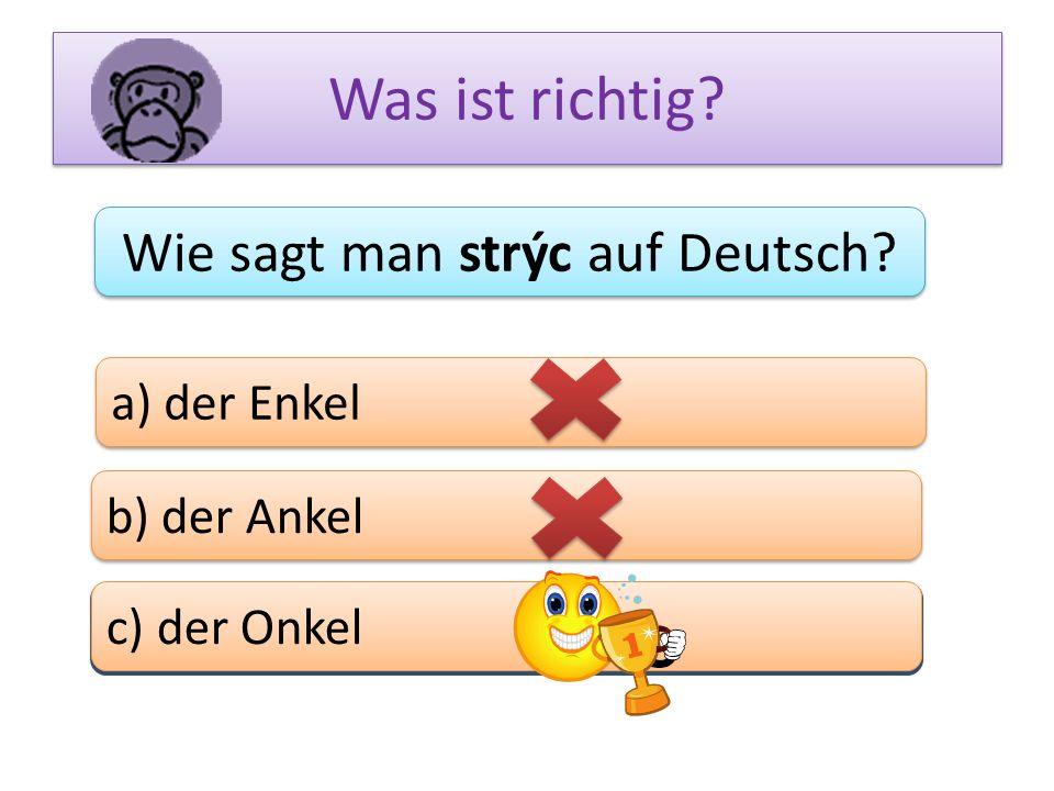 Wie sagt man strýc auf Deutsch