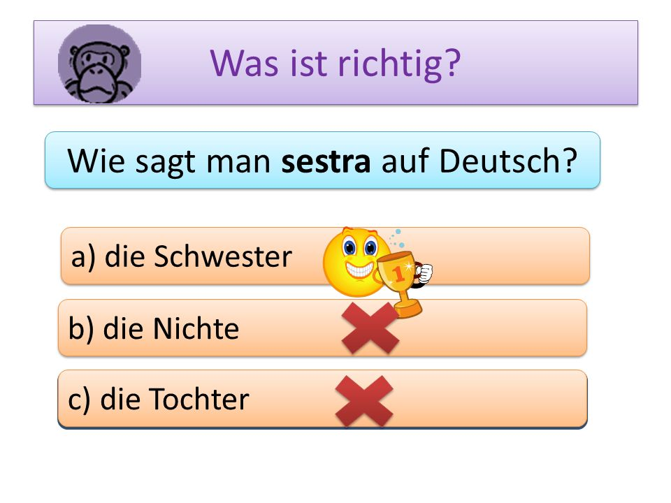 Wie sagt man sestra auf Deutsch