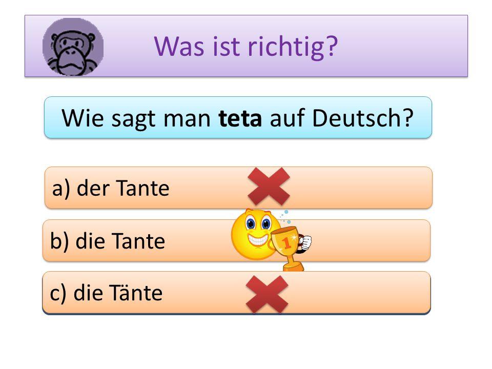 Wie sagt man teta auf Deutsch