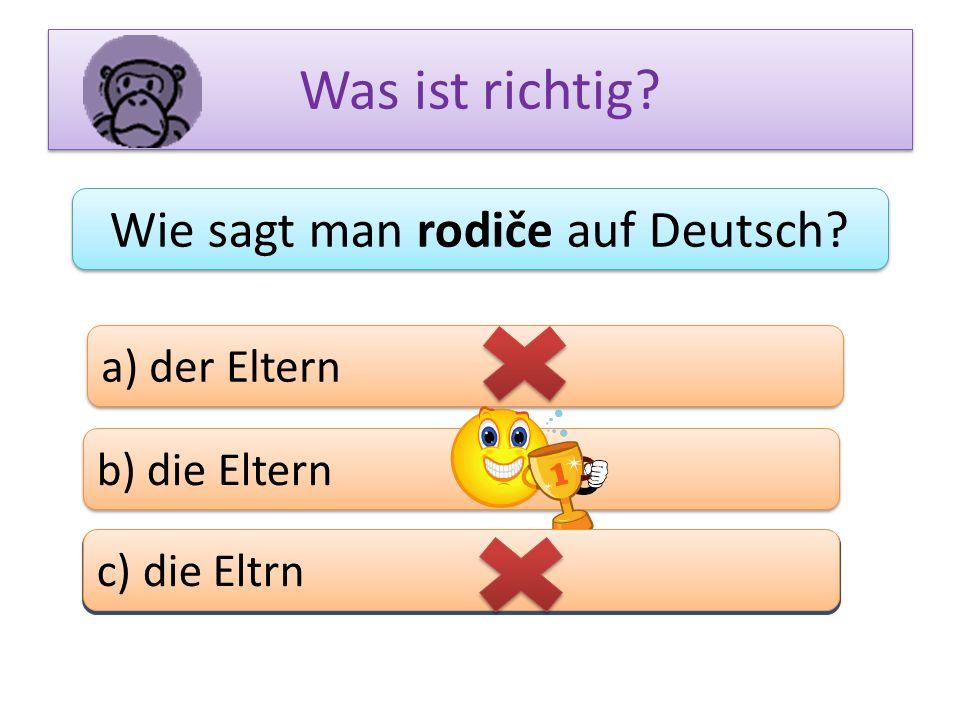 Wie sagt man rodiče auf Deutsch
