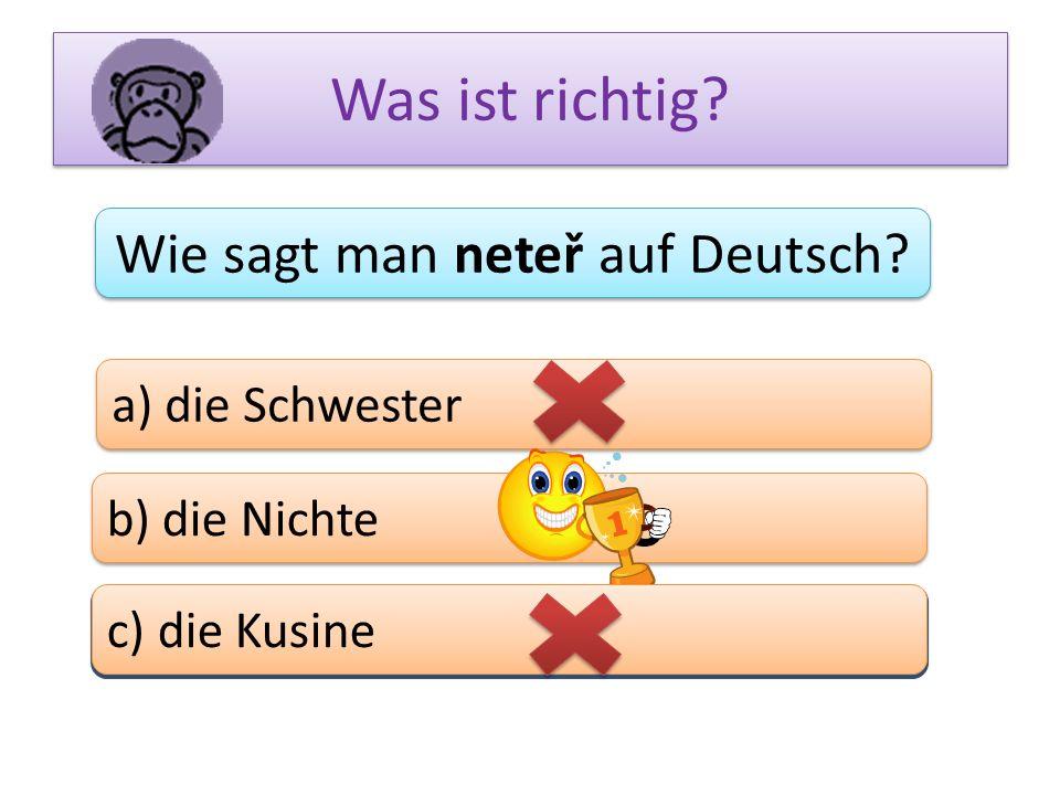 Wie sagt man neteř auf Deutsch