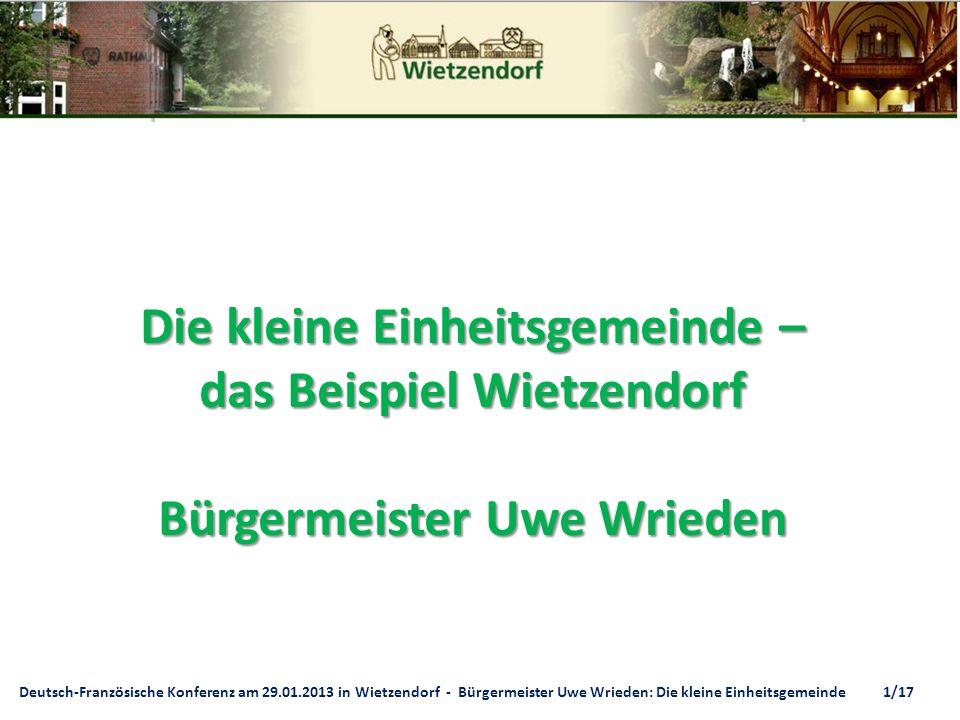 Die kleine Einheitsgemeinde – das Beispiel Wietzendorf