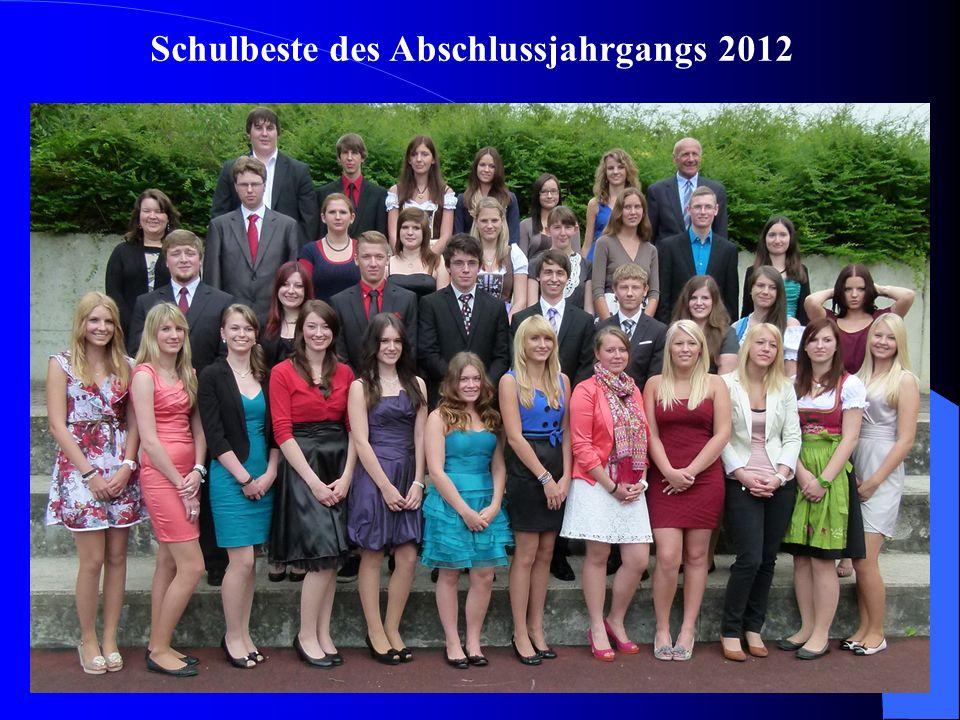 Schulbeste des Abschlussjahrgangs 2012