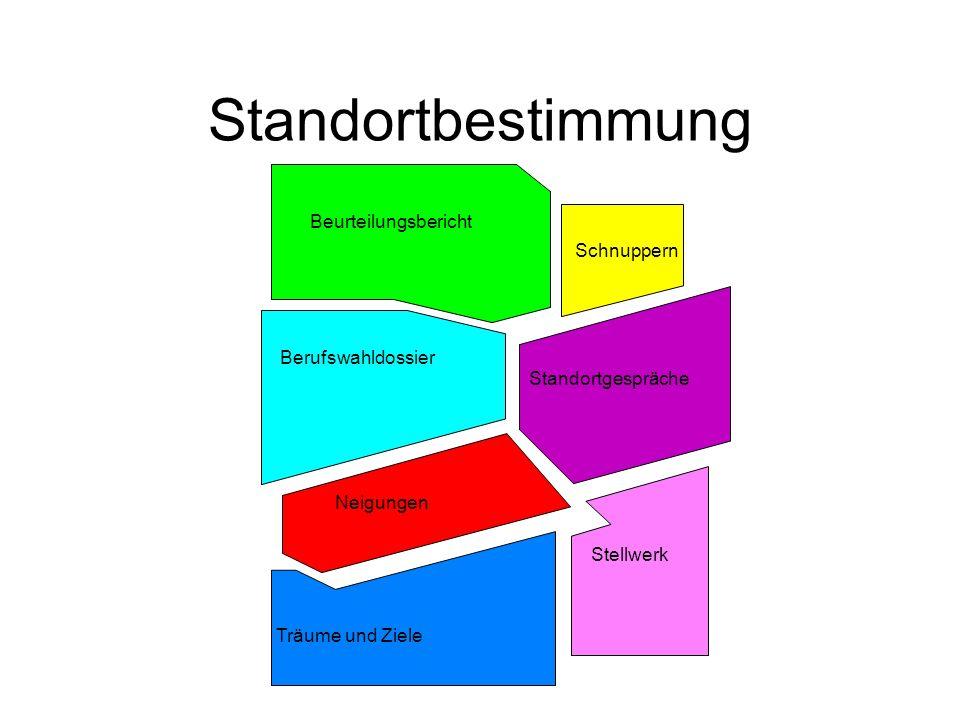 Standortbestimmung Beurteilungsbericht Schnuppern Berufswahldossier