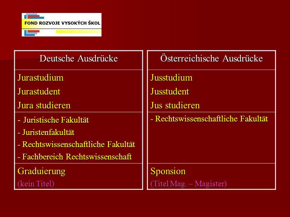 Österreichische Ausdrücke