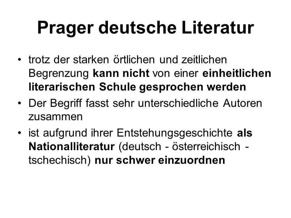 Prager deutsche Literatur