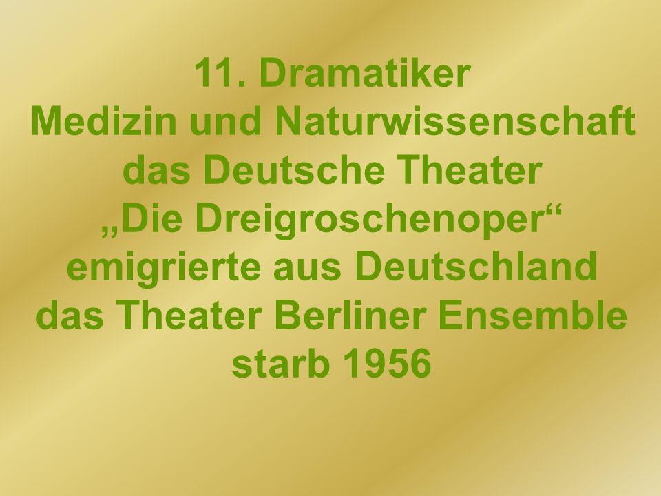 Medizin und Naturwissenschaft das Deutsche Theater