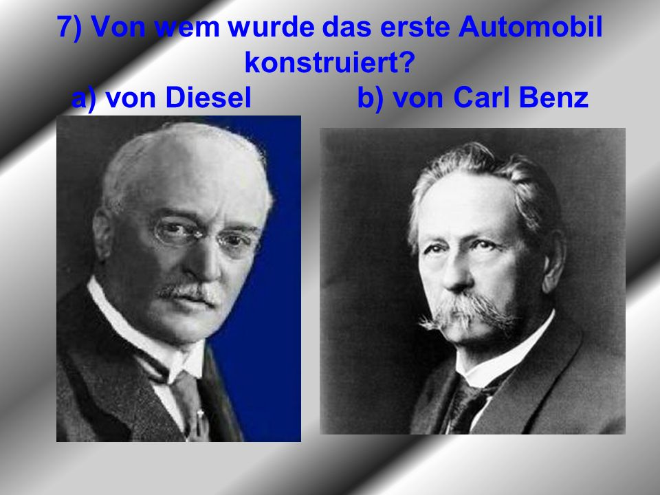 7) Von wem wurde das erste Automobil konstruiert
